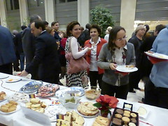 Meeting new and old friends (prondis) Tags: christmas brussels party food belgium belgique bruxelles national esf unit geographical bistra empl
