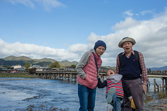 BM7Q1295.jpg (Idiot frog) Tags: bridge blue sky woman cloud white water girl beautiful beauty japan lady canon river eos kyoto pretty michelle bluesky arashiyama whitecloud 1dx