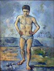 Cézanne, The Bather, 1885-86