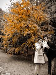 Shashin - DSCN2919 (Mathieu Perron) Tags: life city bridge people bw white black monochrome yellow jaune nikon kyoto noir perron daily nb journey  mp blanc personne ville gens vie mathieu   sjour     quotidienne  ryanji     p520  zheld