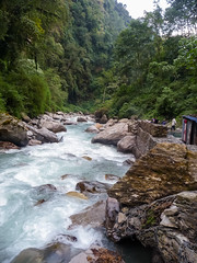 Hot springs in Jhinu, Annapurna Base Camp trek, Nepal