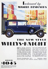 """An ad from May, 1929 for the Willys-Knight """"70-B."""" (lhboudreau) Tags: auto art car illustration advertising coach vintagecar automobile drawing ad illustrations drawings advertisement willys bluecar 1929 vintageauto vintageautomobile vintagecoach 1045 70b willysknight autoad willysoverland blueautomobile automotivead may1929 willysknight70b"""