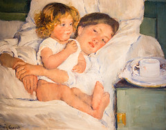 Breakfast in Bed (Thomas Hawk) Tags: california usa america painting losangeles sanmarino unitedstates huntington unitedstatesofamerica southerncalifornia breakfastinbed marycassatt thehuntington