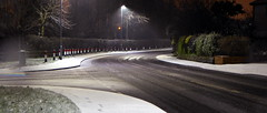 Snow on road (Rupert Thomson) Tags: road street snow night long exposure led lamps sodium
