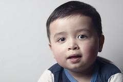 CJ (Torgeir Eikrem) Tags: boy portrait color canon 50mm son softbox