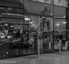 Reflection of Tower Bridge 0216020 (meriwaniart) Tags: bridge reflection london tower window buildings restaurant streetphotography southbank local riverthames meriwaniart