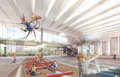 Проект музейного комплекса El Papalote Museo Del Niño Iztapalapa для Мехико от Studio de Arquitectura y Ciudad и EA-MX