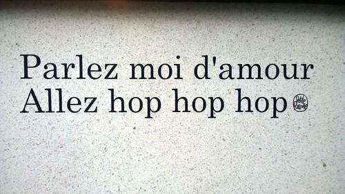 """""""Parlez moi d'amour, allez, hop, hop, hop"""" Paris 2016"""
