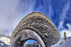 Bridge into the Sky - Brcke in den Himmel (W_von_S) Tags: bridge blue schnee trees winter sky panorama white snow mountains tree architecture clouds landscape bayern bavaria outdoor stones sony january himmel wolken berge steine alpine architektur alpen blau brcke landschaft bume baum januar snowscape snowlandscape schneelandschaft 2016 sudelfeld weis bayerischealpen 7rm2 wvons alpha7rm2 bridgeintothesky brckeindenhimmel