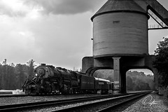 N&W 2156 Returning Home (Drifton Dalton) Tags: railroad blackandwhite white black monochrome train nw track ns norfolk tracks engine rail railway trains steam wv westvirginia wharf western rails locomotive passenger coal prichard excursion norfolksouthern vmt 2156 nw2156