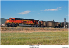 BNSF ES44AC 5877 (Robert W. Thomson) Tags: railroad train montana diesel railway trains locomotive helena trainengine ge bnsf burlingtonnorthernsantafe gevo es44ac es44 evolutionseries sixaxle