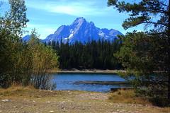 View of Mount Moran across Jackson Lake - Grand Teton National Park, Wyoming (danjdavis) Tags: mountain lake nationalpark rockymountains wyoming mountmoran grandtetons grandtetonnationalpark jacksonlake
