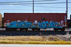 (o texano) Tags: bench graffiti texas houston trains morgan optimist freights benching