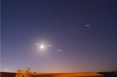 Mars, Moon, Saturne and Vnus (Denis Vandewalle) Tags: mars moon lune stars moonrise planets astronomy nightsky toiles aurore