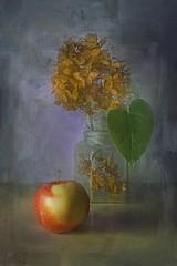 apple and ... (krasnoperovv) Tags: flower apple leaf stillife photoart textured