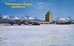 International Airport, Anchorage, Alaska (SwellMap) Tags: architecture plane vintage advertising design pc airport 60s fifties aviation postcard jet suburbia style kitsch retro nostalgia chrome americana 50s roadside googie populuxe sixties babyboomer consumer coldwar midcentury spaceage jetset jetage atomicage