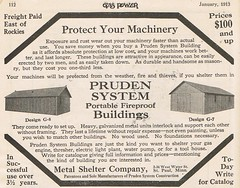 Metal Shelter 1913 (Runabout63) Tags: building metal portable advert shelter pruden fireproof