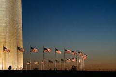 Memorial [Explored] (Tom Simcock) Tags: city usa evening washingtondc washington memorial dusk flags washingtonmemorial