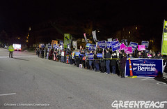 Lining The Streets For Democracy (Greenpeace USA 2015) Tags: usa democracy durham newhampshire vote republican democrat keepitintheground