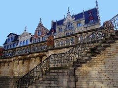 Charming places in Ghent, Belgium - Staircase to St.Michielsbrug (jackfre2) Tags: cozy belgium charm staircase charming ghent gent gand flanders flandres ironwrought