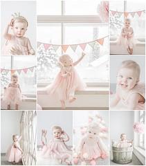 One year old (SINIKKAFOTO) Tags: pink baby girl one romantic littlegirl oneyear oneyearold firstyear pompom girlish