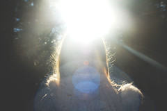 (nic lawrance) Tags: light people sun nature girl woodland shine bright halo cotswolds gloucestershire corona figure
