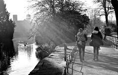 Walk in the park (plot19) Tags: uk light shadow england people blackandwhite white black english water photography blackwhite nikon cheshire northwest britain north british northern dunham dunhammassey massey dunhampark plot19