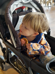 """Waiting with """"Cookie C"""" (quinn.anya) Tags: toddler waiting cookie sam stroller 85ccafe"""