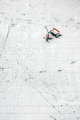 waiting in white (Tania Sonnenfeld) Tags: winter snow abandoned childhood bicycle toy backyard pov tricycle memories vivid
