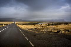 Ring Road, Iceland (breakbeat) Tags: road winter sky mountain black mountains field point landscape lava iceland moss solitude south roadtrip vanishing barren range ringroad katlageopark icelands0138
