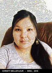 Merci à Christy Bellefleur de La Romaine de sa participation au projet ashu-takusseu.com Le selfie est recomposé avec les images de Wapikoni mobile