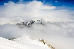 Snow storm on Rendezvous Mountain (Paladin27) Tags: park blue mountain snow storm mountains snowstorm grand national grandtetons teton grandteton rendezvous rendezvousmountain