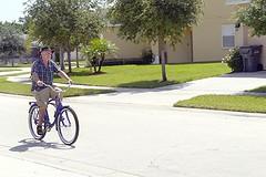 Warmer days in 2012 (Hi, I'm Tim.) Tags: old man male guy classic hat bike bicycle race lumix ride florida fast retro panasonic riding mature cycle older g1 schwinn rider cruiser ridden