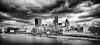 The Black City (Littlepois Photographie) Tags: city uk greatbritain blackandwhite bw london thames nikon noiretblanc nb londres angleterre ville 167 fleuve d4 royaumeuni grandebretagne lr4 littlepois nikon2470f28 silverefexpro2