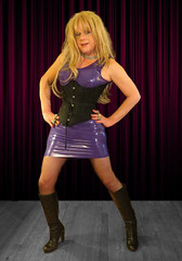 Bend me, shape me.... (Irene Nyman) Tags: cute monster dress purple boots bondage rubber tranny blonde transvestite latex corset irene crossdresser nyman
