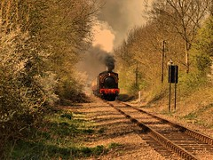 17thApril 111 (saxonfenken) Tags: train golden dusk tracks railway superhero steamtrain perpetual 6900 challengeyou challengeyouwinner friendlychallenges pregamewinner 6900trans