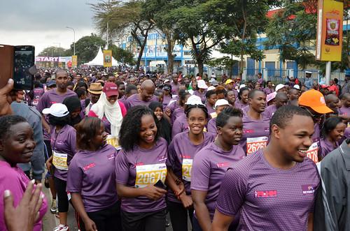 #IWD2016 in Kenya - First Lady's Half Marathon, raising awareness on ending maternal deaths