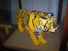 OH Bellaire - Toy & Plastic Brick Museum 55 (scottamus) Tags: ohio sculpture statue lego display tiger roadside bellaire attraction belmontcounty toyplasticbrickmuseum