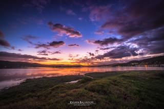 Knysna Lagoon at the sunset