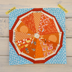 "Completed 12"" Block (easypatchwork) Tags: orange paper lemon inch foundation slice quilting block citrus 12 lime patchwork piecing modernquiltingbyb"