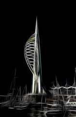 Emirates Spinnaker Tower (Nickerzzzzz - Thanks for stopping by :)) Tags: 2005 colour tower observation dubai harbour photograph portsmouth gunwharfquays hgparchitects nickudy emiratesspinnakertower