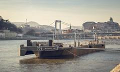359 (kareszzz) Tags: bridge winter fog port river landscape boat hungary ship cityscape colours budapest foggy quay february duna danube donau 2016 ef24105 canon6d