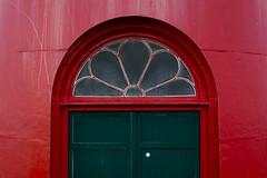 Green door (Jan van der Wolf) Tags: door red lighthouse green groen curve rood vuurtoren deur rozet bovenlicht map14761v