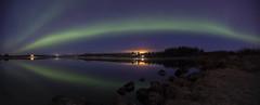 Icelandic Aurora borealis (Benedikt Halfdanarson) Tags: reflections stars iceland nightsky sland northernlights auroraborealis norurljs stjrnur