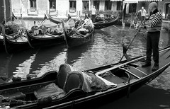 Venice impressions (pammiesd2011) Tags: travel venice italy man rest gondolier
