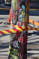 Graffiti, Malmö (Maria Eklind) Tags: streetart tree art colors graffiti se paint sweden sverige malmö möllevången folketspark skånelän