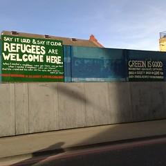 (uk_senator) Tags: london graffiti protest housing gentrification migration immigration crisis humanitarian
