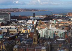View from Radio City Tower (North) (.annajane) Tags: uk england lighthouse water liverpool river cityscape view aerial newbrighton merseyside stjohnsbeacon radiocitytower rivermersey municipalbuildings liverpoolbay victoriaclocktower