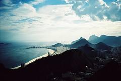 Rio de Janeiro (cranjam) Tags: ocean brazil film beach rio riodejaneiro lomo lca xpro lomography kodak slide unesco worldheritagesite copacabana podeacar atlanticocean spiaggia brasile oceano sugarloafmountain elitechrome100 oceanoatlantico