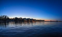 Blue hour in Lauttasaari (Antti Tassberg) Tags: sea night dark landscape prime spring helsinki lowlight nightscape fisheye bluehour 15mm lauttasaari y kevt laru